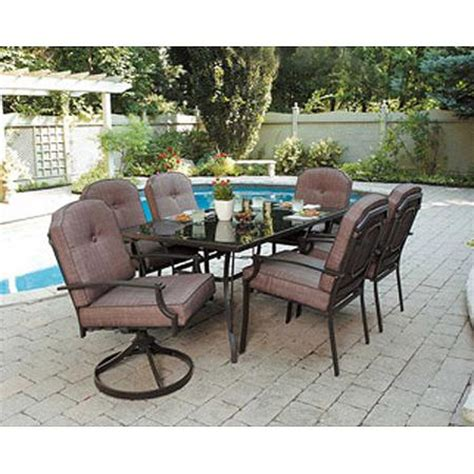 Buy Mainstays Wentworth 7 Piece Patio Dining Set Seats 6 Cheap Patio Dining Set