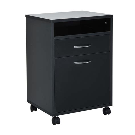 Outdoor Storage Cabinet On Wheels by Homcom 24 Quot Rolling End Table Mobile Printer Cart