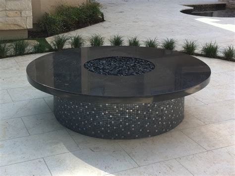 black granite pit patio houston by grand llc