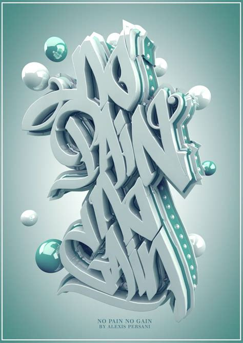 typography served no no gain a c4d project by persani via