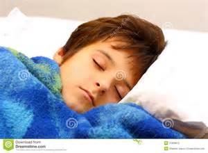 Nap Bed Rest A Boy Sleeping Stock Photos Image 21828613