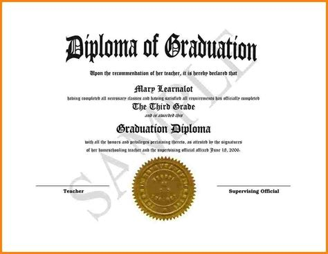 High School Diploma Template Tryprodermagenix Org Diploma Template Word