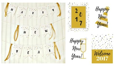 printable new years banner 2016 free new year printables happy new year 2017