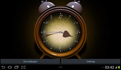 cool clock for home screen free android live wallpaper