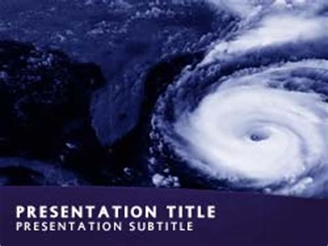 Royalty Free Hurricane Weather Powerpoint Template In Blue Hurricane Powerpoint Template Free