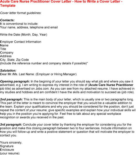 nurse practitioner cover letter template sle templates