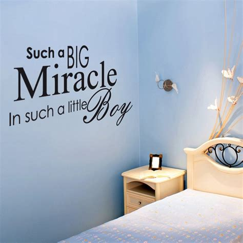 baby quote wall stickers miracle baby boy wall sticker quote from wall chimp uk