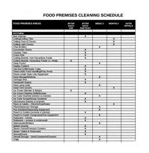 domestic cleaning schedule template sle cleaning schedule 8 documents in pdf word