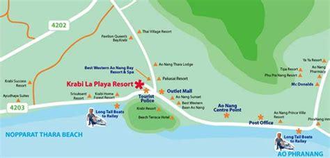 siloso resort location map krabi la playa resort location map krabi hotels in thailand