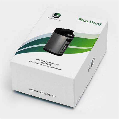 Authentic Pico Dual 200w By Eleaf authentic eleaf pico dual 200w grey tc vw variable wattage box mod