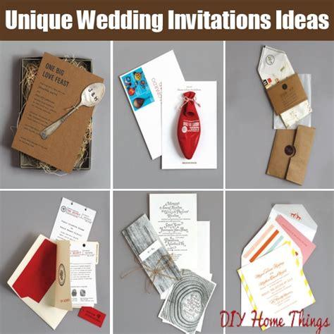 cool wedding invitation ideas 10 cool and unique wedding invitations ideas diy home things