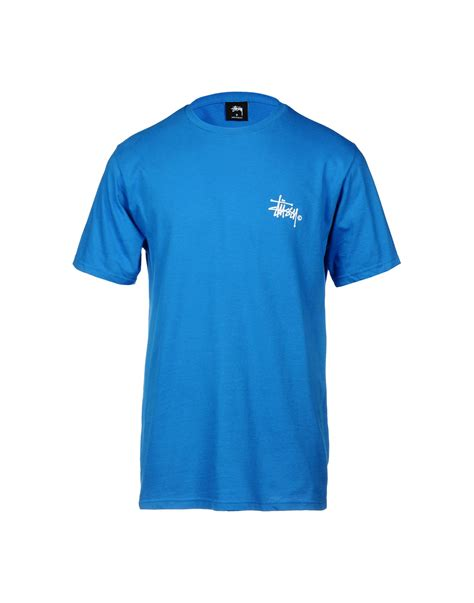 Stussy T Shirt lyst stussy t shirt in blue for