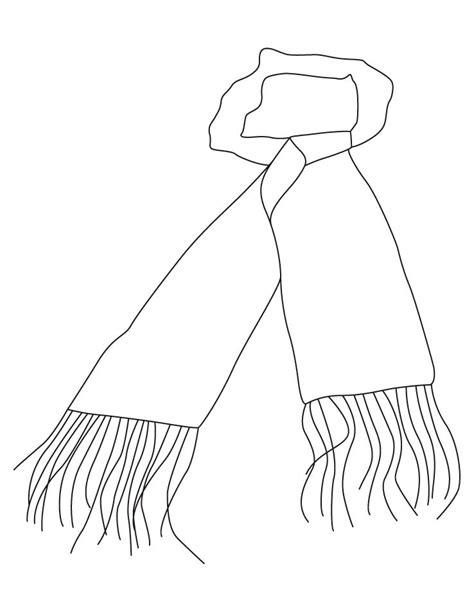 coloring page winter scarf winter scarf coloring page kids coloring page gallery