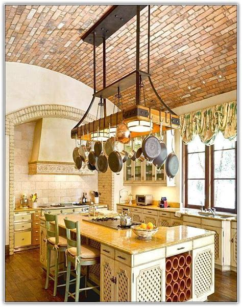 kitchen island with hanging pot rack 15 photo of kitchen pendant lights with pot rack