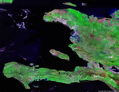 haiti map  satellite image