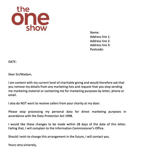 the one show charity letter template the one show charity letter template 28 images 28