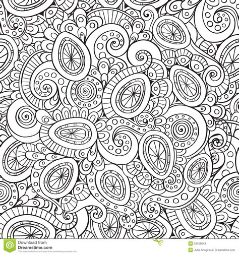 abstract pattern doodles outline abstract floral doodle pattern stock vector