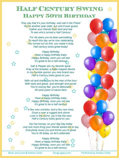 Birthday Song Quotes 50th Birthday Quotes For Women Quotesgram