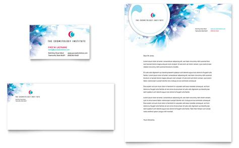 Cosmetology Business Card Letterhead Template Design Letterhead And Business Card Templates