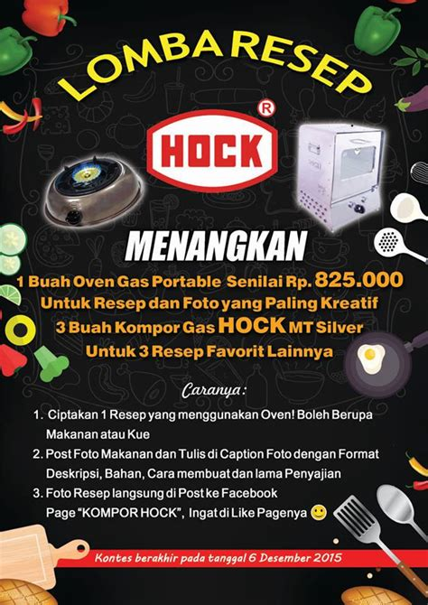 Oven Hock No 3 Dan 4 kontes foto resep hock berhadiah oven kompor hock www