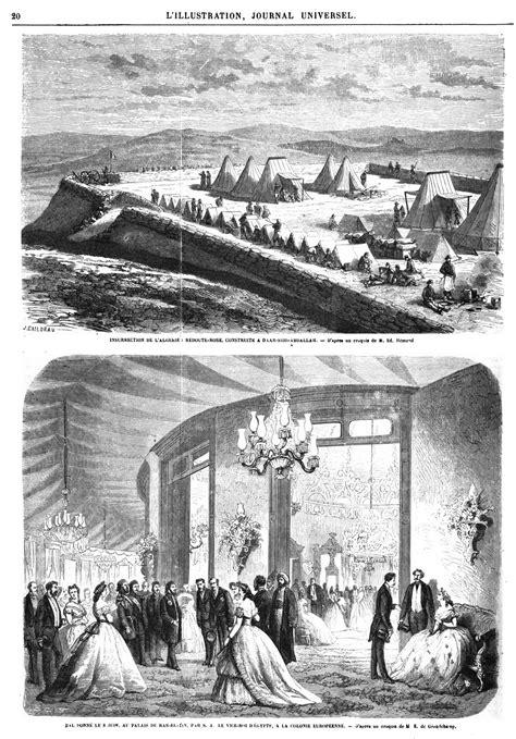 Algérie. Gravures du 19ème siècle. Gravures anciennes