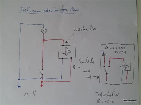 wiring a bathroom extractor fan with timer