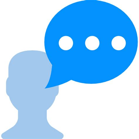 bobble person chat dialogue bubbles talk person icon free of