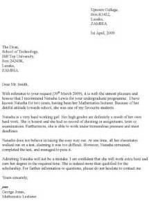 Letter of recommendation examples for scholarships how to write a