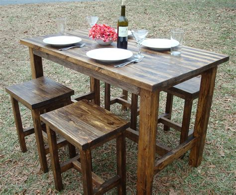 Table And Stools by Bar Table And Stools Pub Table Wood Bar By
