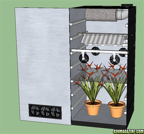 Cannabis Closet Grow by Sketchup 3d Model Small Closet Grow Box 420 Magazine