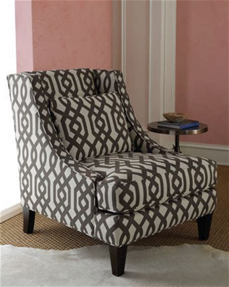 Patterned Arm Chair Design Ideas Massoud Gray Graphic Chair Modern Armchairs And Accent Chairs By Horchow
