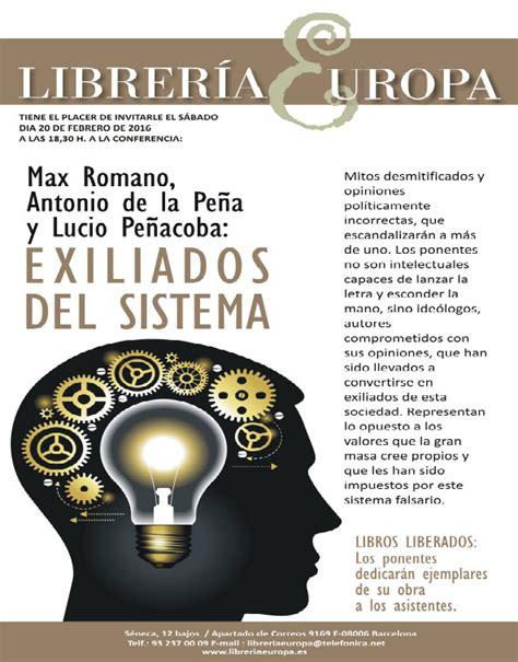 libreria europa exiliados sistema conferencia en librer 237 a europa