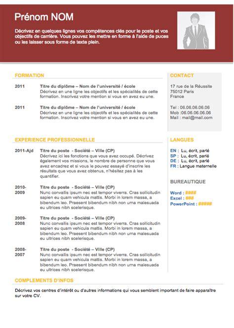model cv professionnel word gratuit mod 232 le de cv gratuit 2013 cv pinterest mod 232 le de cv