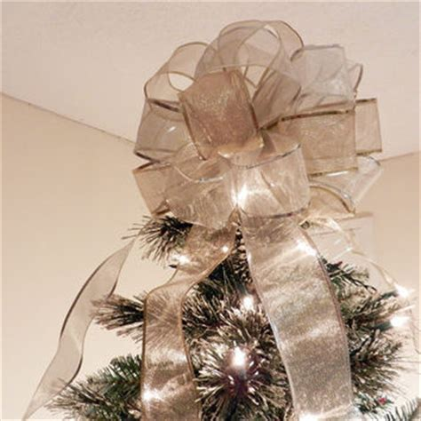big bow tree topper best tree bow topper products on wanelo