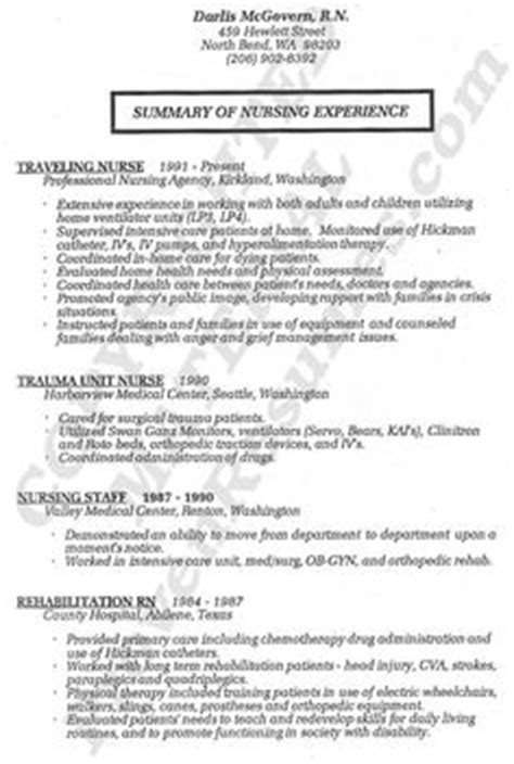 Resume For Nursing In Australia resume sle nursing