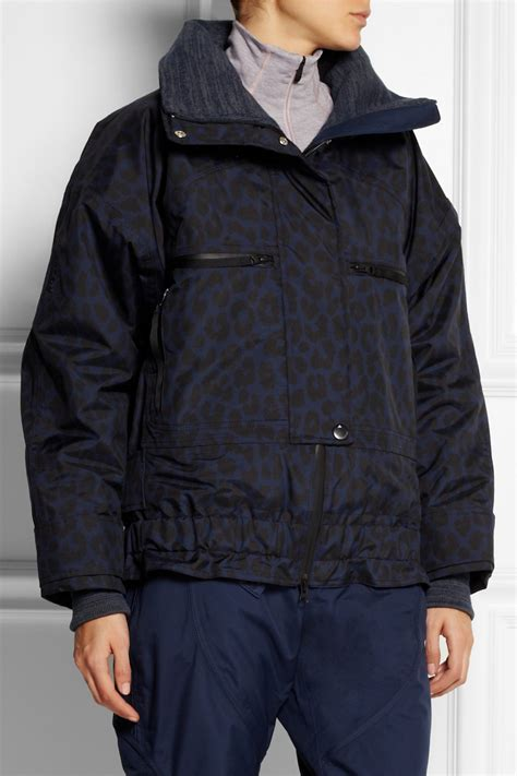 Kaos Print Snow Jacket lyst adidas by stella mccartney ws leopard print climaproof 174 ski jacket in blue