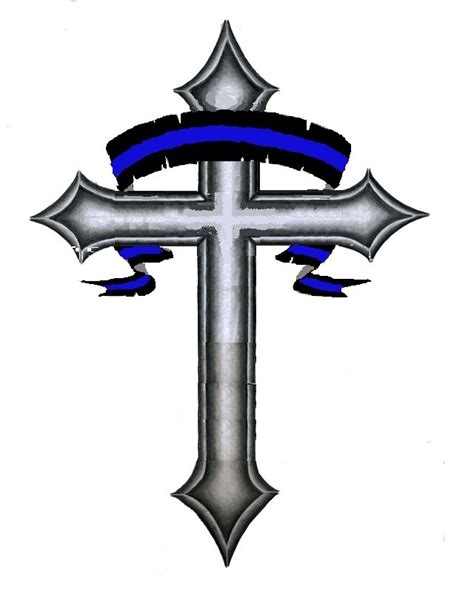 blue cross tattoo thin blue line my style blue line