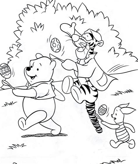 two easter colouring pictures of disney s winnie the pooh