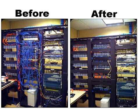 image gallery network wiring mess