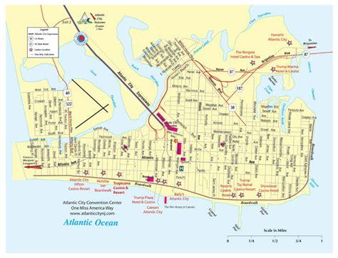 map of atlantic city nj atlantic city golf vacations area map