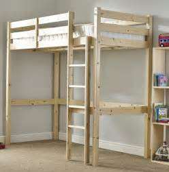 hohe betten icarus 3ft single heavy duty solid pine high sleeper bunk bed