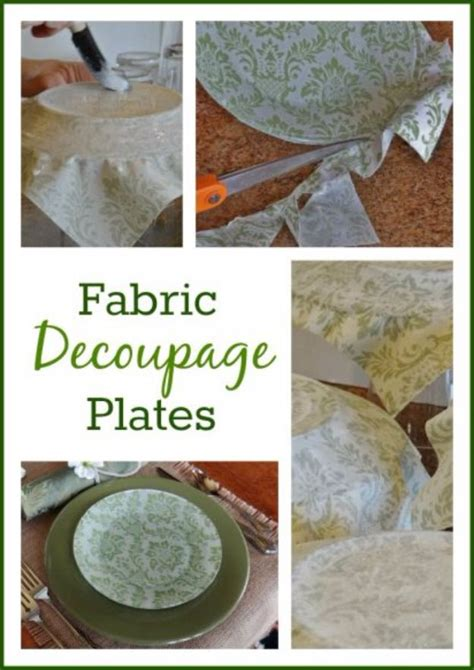 decoupage plates with fabric 17 best ideas about plates on tea