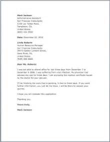 Excuse Letter Request Application Letter For Absent In College