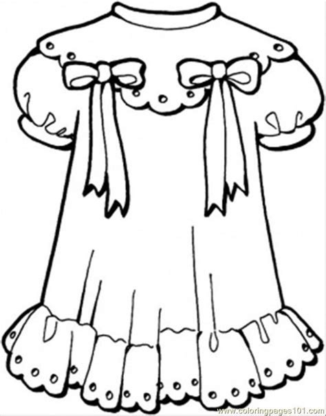 Coloring Page Dress by Coloring Pages Dresses Coloring Home