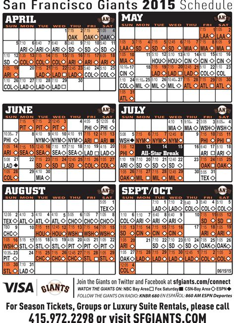 printable mlb schedule 2015 san francisco giants tickets schedule 2014 giants auto