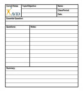 printable cornell notes template cornell note template 15 free documents in pdf