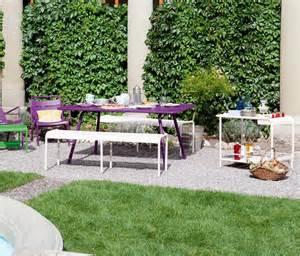 table de jardin metal solde