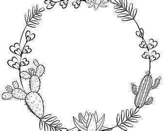 Home Decor Plants Cactus Wreath Etsy