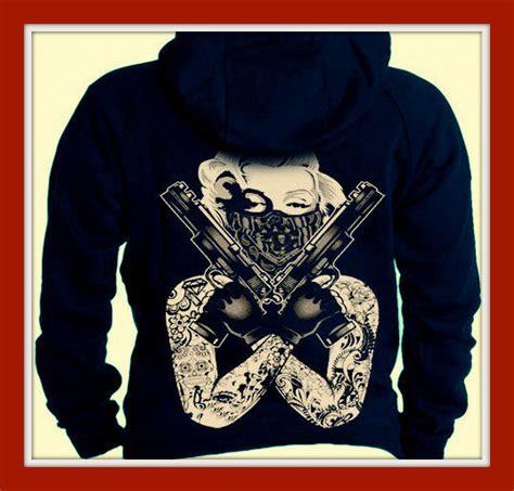 Hoodie Marilyn 02 1 marilyn guns bandana gangster hoodie sweatshirt navy new ebay