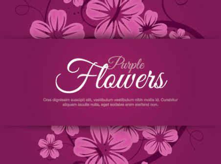 Design Website Free purple flowers vector graphic free vector background